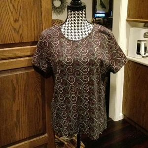Croft & Barrow Shirt Sleeve top Size XL